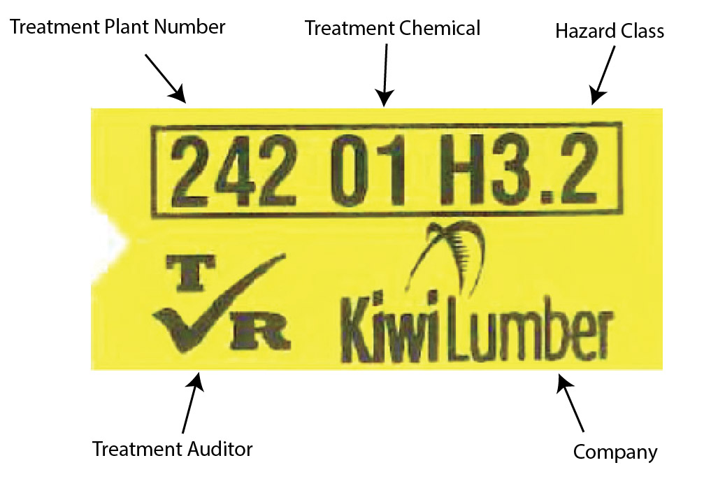 Kiwi Lumber Treatment Tag