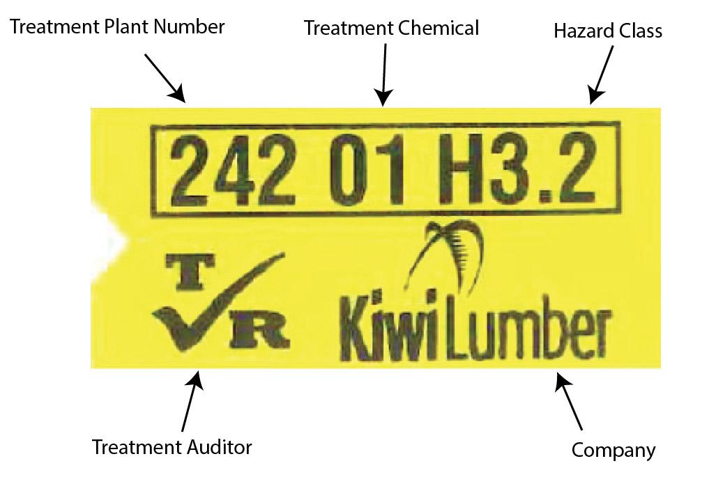 Kiwi Lumber Treatment Tag